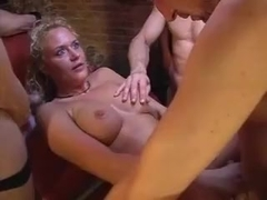 German gangbang at swinger club