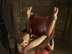 Skin gets all three holes fucked & fucked wellSkin made to cum so many times she even lost count