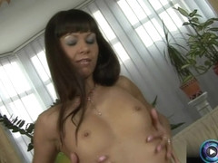 Tiny titted Angelina Crow delectable goodies