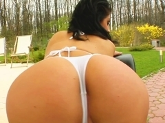 Ass Traffic Lia's tight butt can hardly take these cocks