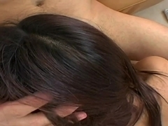 Ball sucking babe Jayna Oso gives head in pov