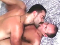 Exotic gay scene with Bear, Blowjob scenes