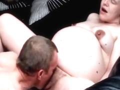 Nine Months -Pregnant gets licked and fucked