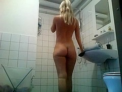 Dutch girl taking a shower