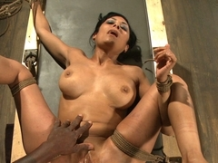 Incredible ebony, anal porn video with exotic pornstars Beretta James and Jack Hammer from Dungeon.