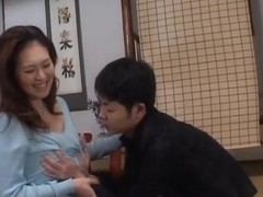 Mina Toujou horny Asian housewife likes her son's friends cock