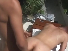 Horny Amateur Shemale clip with Small Tits, Outdoor scenes