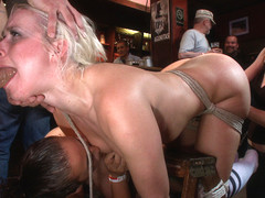 Smoking Hot Blonde Is Fucked In Public Bar - PublicDisgrace